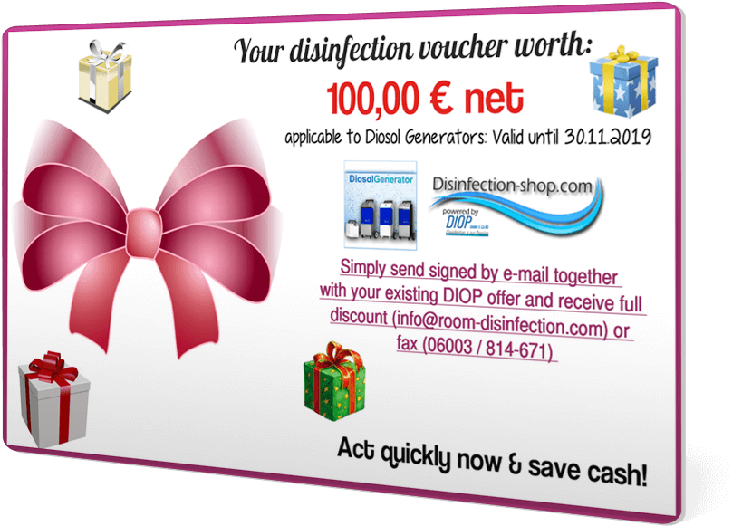 Diop disinfection voucher