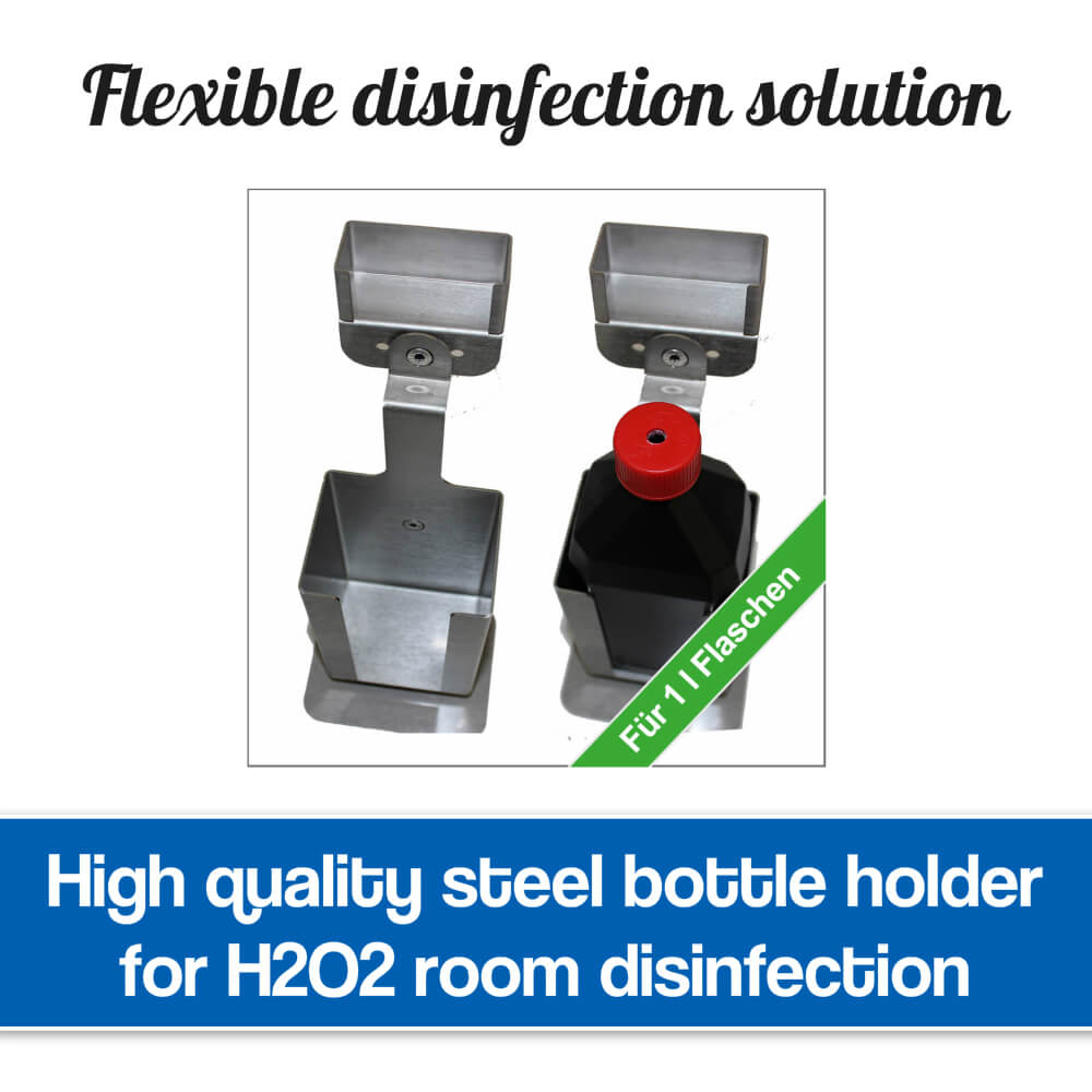 Bottle holder for room disinfection