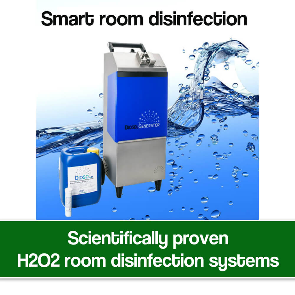 H2O2 room disinfection systems