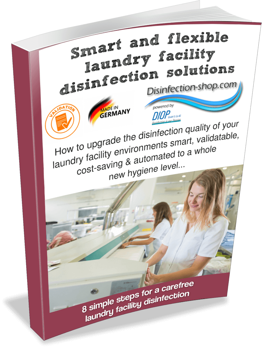 Laundry facility disinfection