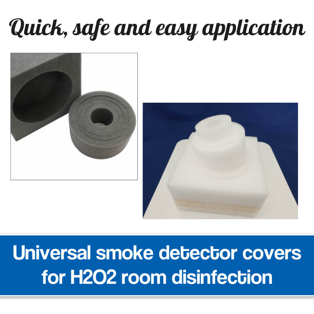 Smoke detector covers for disinfection