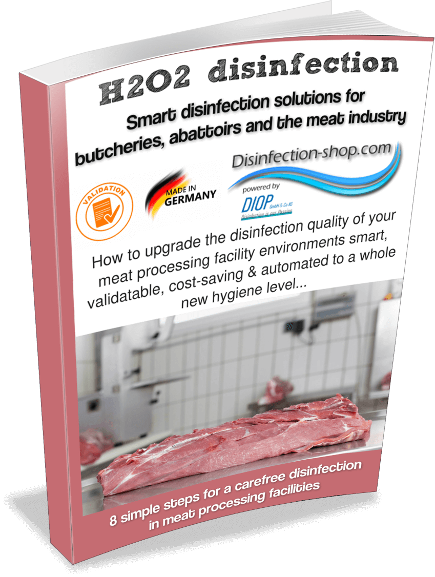Meat processing disinfection