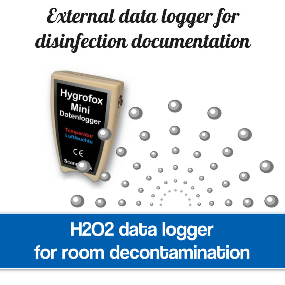 H2O2 disinfection data logger