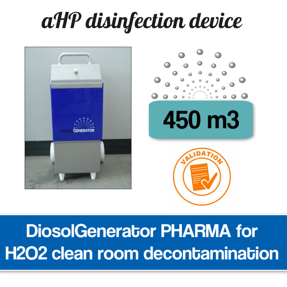 H2O2 clean room disinfection system