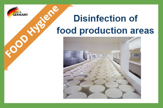 Disinfection food production areas